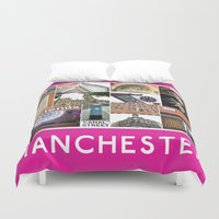 manchester Duvet Covers featuring Manchester 2 by PiecesofEngland