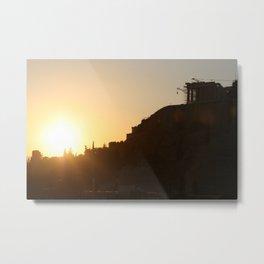 Sun Sets on the Acropolis Metal Print