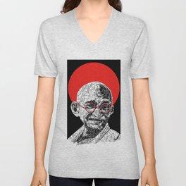 Gandhi Unisex V-Neck