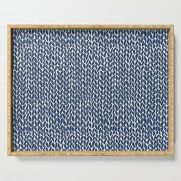 Hand Knit Navy Serving Tray