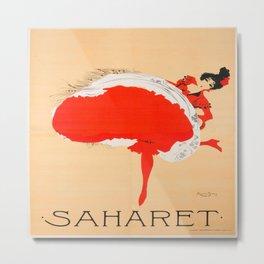 Vintage poster - Saharet Metal Print