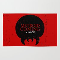 metroid Area & Throw Rugs featuring House Metroid by Alecxps