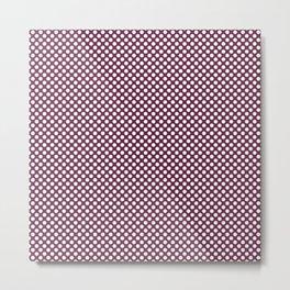 Ruby and White Polka Dots Metal Print