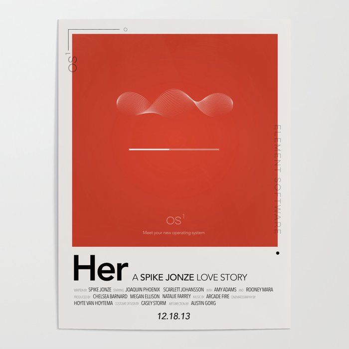 OS1 - Her Alternative movie poster Poster