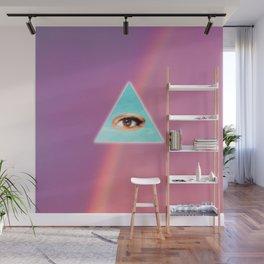 Eye see You (Purple) Wall Mural
