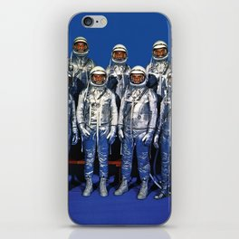 ASTRONAUTS & BUTTERFLIES iPhone Skin