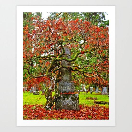 Cemetery love Art Print