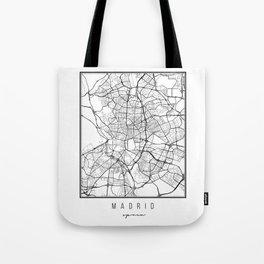 Madrid Spain Street Map Tote Bag