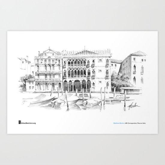 """Matthew Brehm, """"Venezia Ca dOro"""" Art Print"""