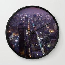 Johannesburg By Night Wall Clock