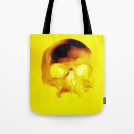Yellow Skull Tote Bag