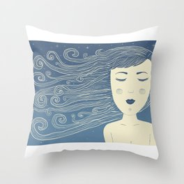 The Moon In Human Form Throw Pillow