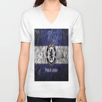 chelsea V-neck T-shirts featuring CHELSEA by Acus