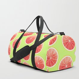 Pink Grapefruit Slices Pattern Duffle Bag