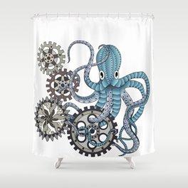 Miss. Octopus Shower Curtain