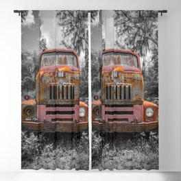 International RC-160 Flatbed Vintage Rusty Truck Blackout Curtain