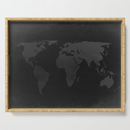 Retro world map Serving Tray