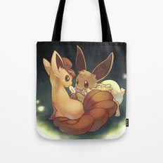 Eevee and Vulpix Tote Bag