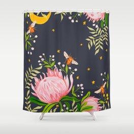 Honey Moon Bee Shower Curtain