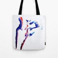 girl power Tote Bags featuring girl power  by Gréta Thórsdóttir