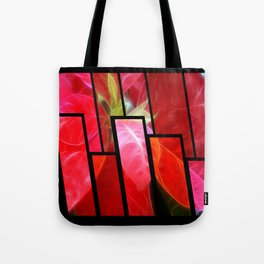 Mottled Red Poinsettia 2 Tinted 1 Tote Bag