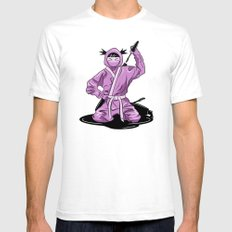 Lady Ninja SMALL White Mens Fitted Tee