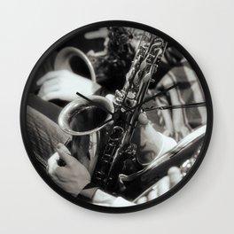 Jazz Saxophones Wall Clock