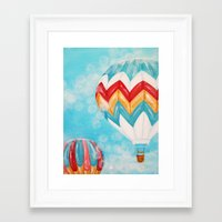 hot air balloons Framed Art Prints featuring Hot Air Balloons #3 by Music of the Heart