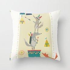 Wolf Adventure Throw Pillow