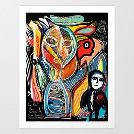 Graffiti Street Art Le Monde Tarot by Emmanuel Signorino   Art Print