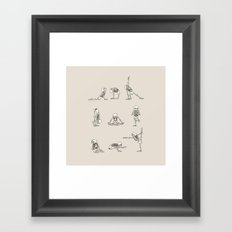 Skeleton Yoga Framed Art Print