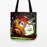 superhero Tote Bags featuring superhero by very giorgious