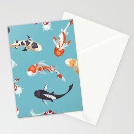 Koi Fish Pond Stationery Cards