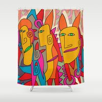 rabbits Shower Curtains featuring - rabbits - by Magdalla Del Fresto