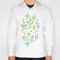 cacti Hoodies featuring Watercolor Cacti by Tangerine-Tane