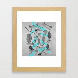 Sinister bones&rocks Framed Art Print