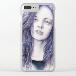 FACE#46 Clear iPhone Case
