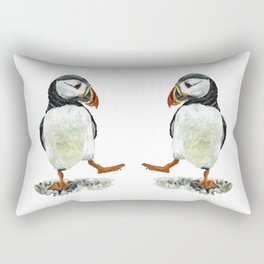 Dancing puffin Rectangular Pillow