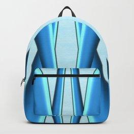 Two Tone Blue Modern Digital Art Backpack