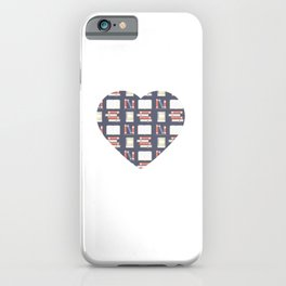A Beautiful Heart With Books Motive for a Bookworm iPhone Case