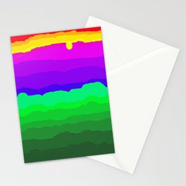 The World is a Rainbow of Color Stationery Cards
