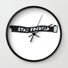 Stay Focused 35mm Camera Film Wall Clock