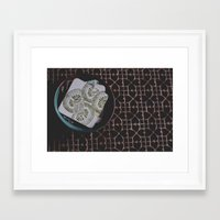 coasters Framed Art Prints featuring coasters by Rae Snyder