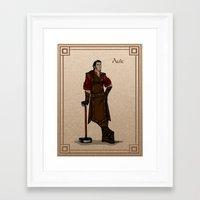 valar morghulis Framed Art Prints featuring Aule by wolfanita