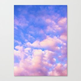 Pink and Cloudy vibes Canvas Print