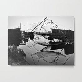 Fishing cabins Metal Print