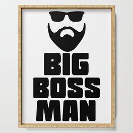 Funny Leadership T-Shirt Design Big boss man Serving Tray