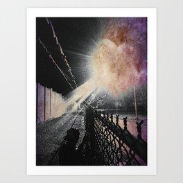 No flash photography during invasion Art Print