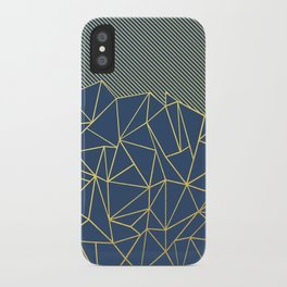 Ab Lines 45 Navy and Gold iPhone Case