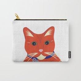 Cute Ginger Cat Carry-All Pouch